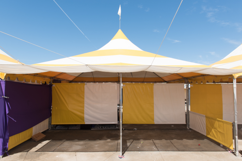Canopy tent set up