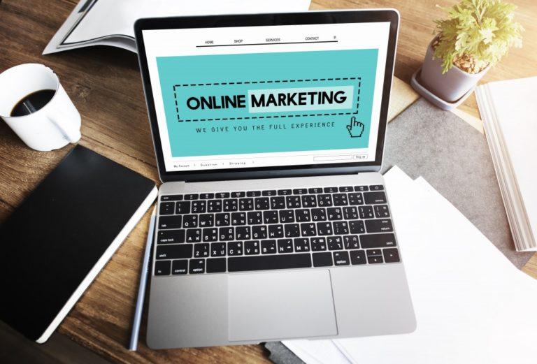 Online marketing homepage website