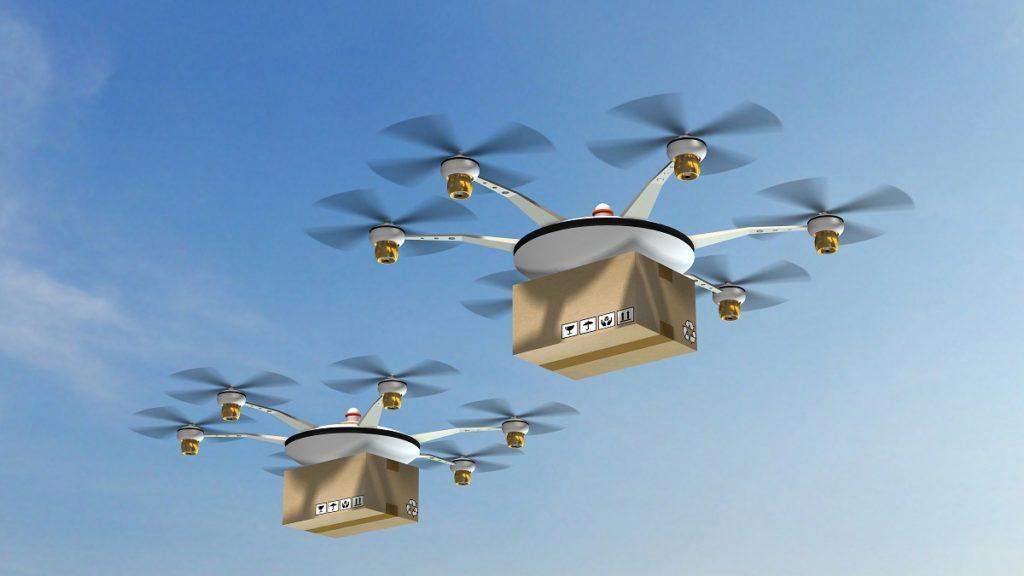 drones delivering