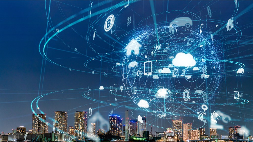 city with cloud network