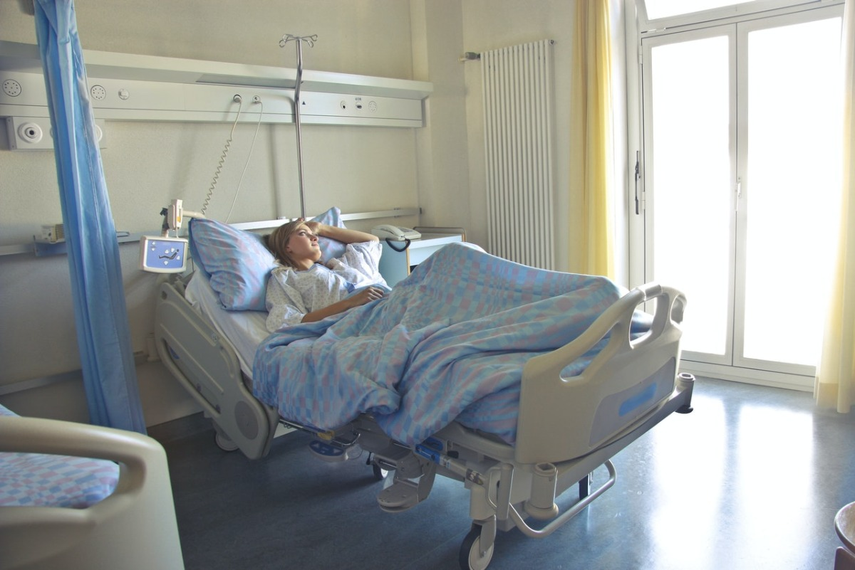 patient in a hospital