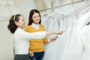 selecting wedding gown