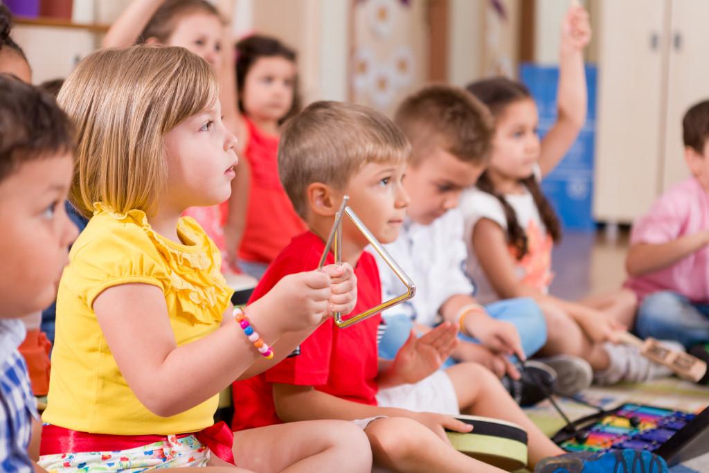 children in daycare center