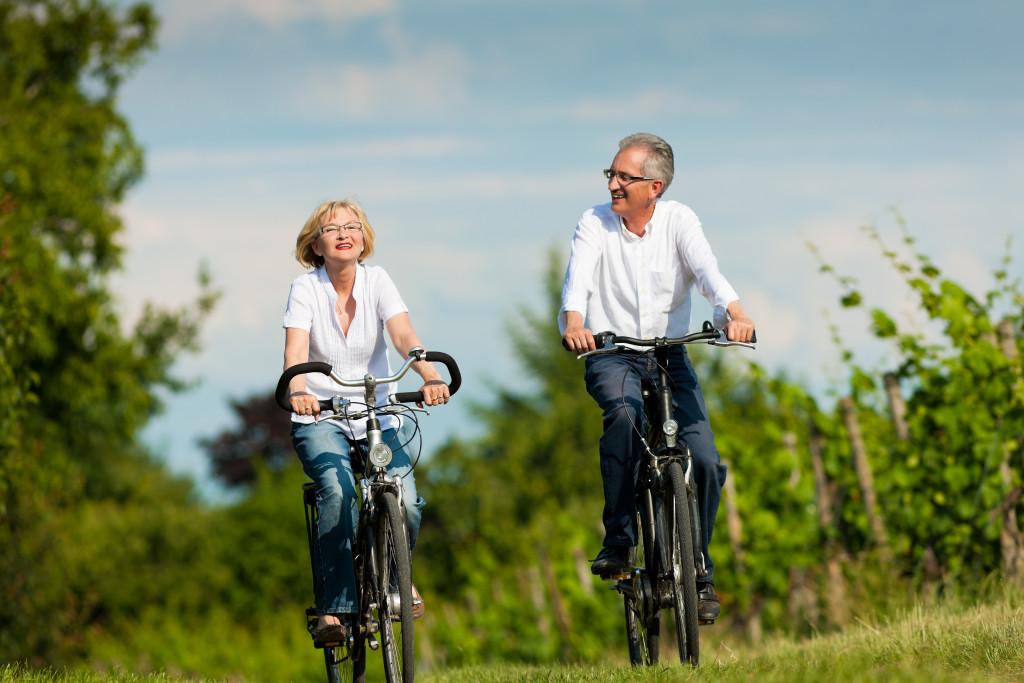 senior biking